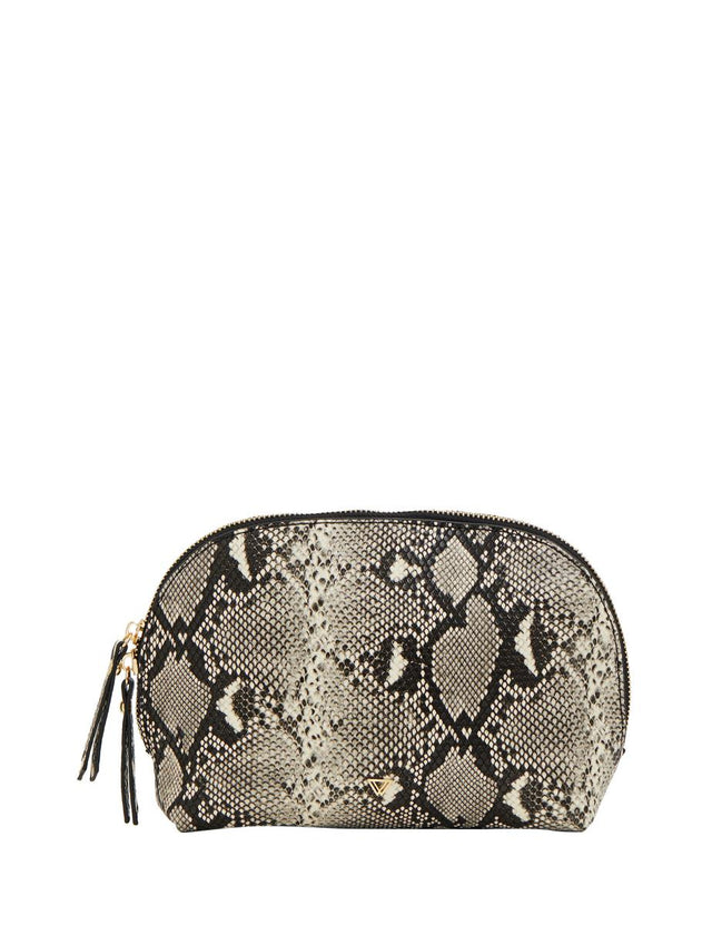 Rae Cosmetic Purse Grey Python