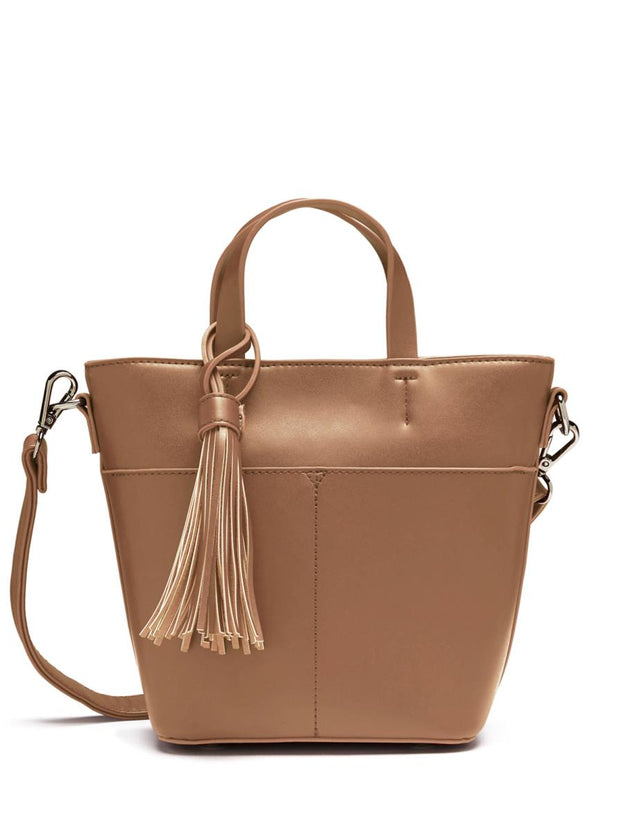 Carmen Tassel Bucket Tan