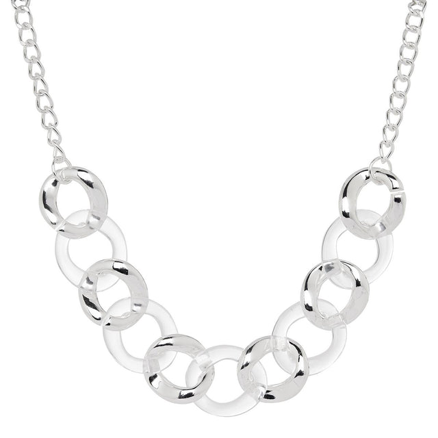 Georgia Chunky Midi Necklace Silver