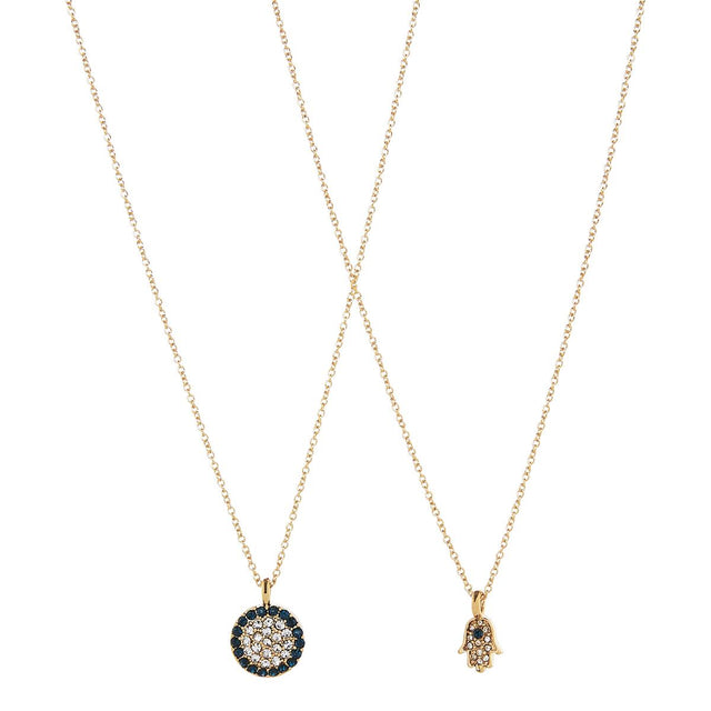 Aileen Duo Short Necklace Multi