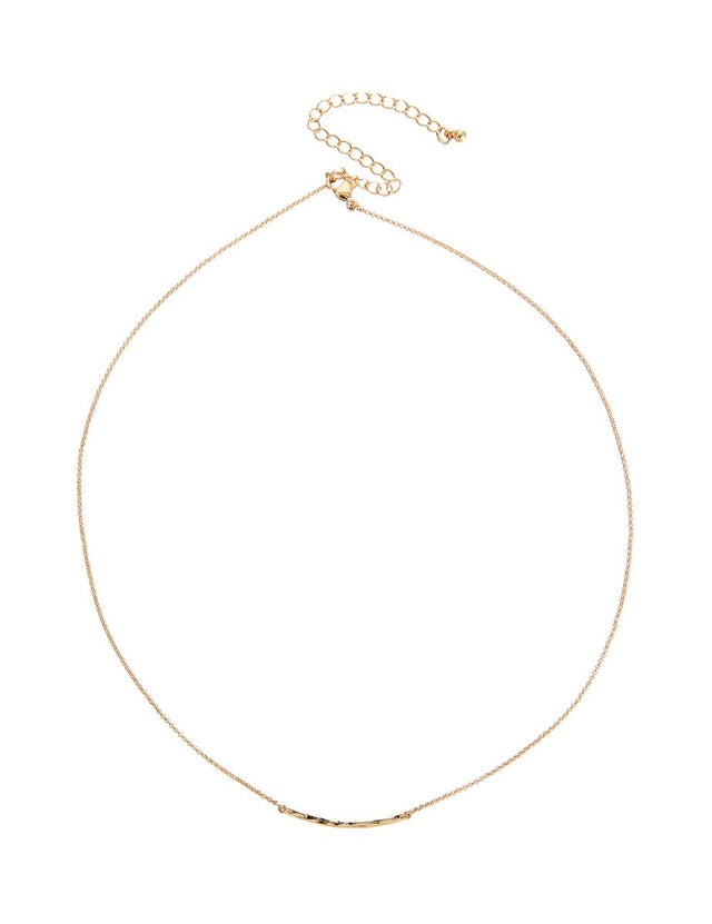 France Bar Midi Necklace Gold