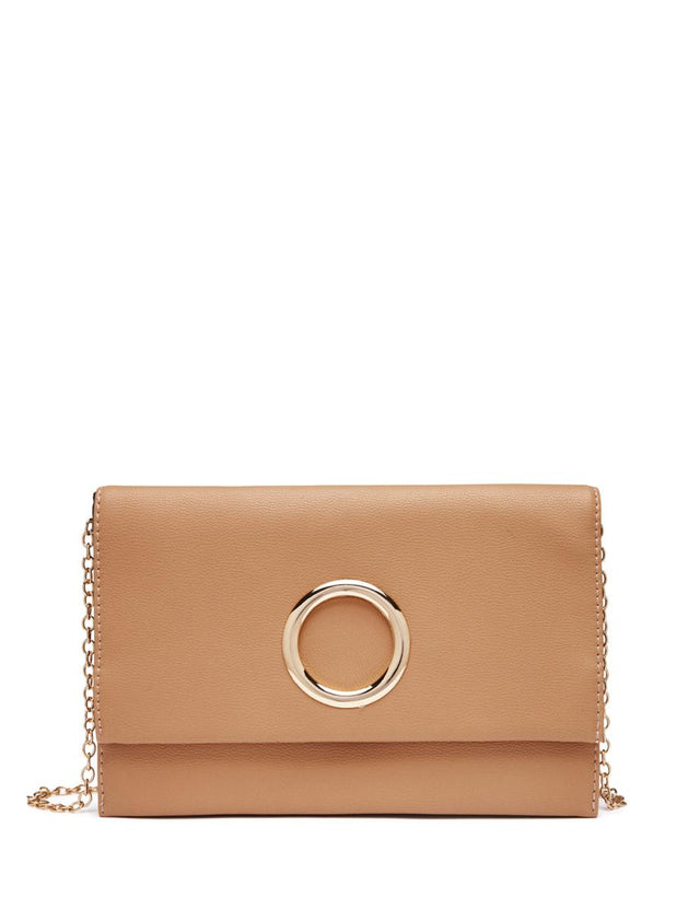 Ruby Soft Clutch Tan