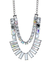 Cali Statement Long Necklace Silver