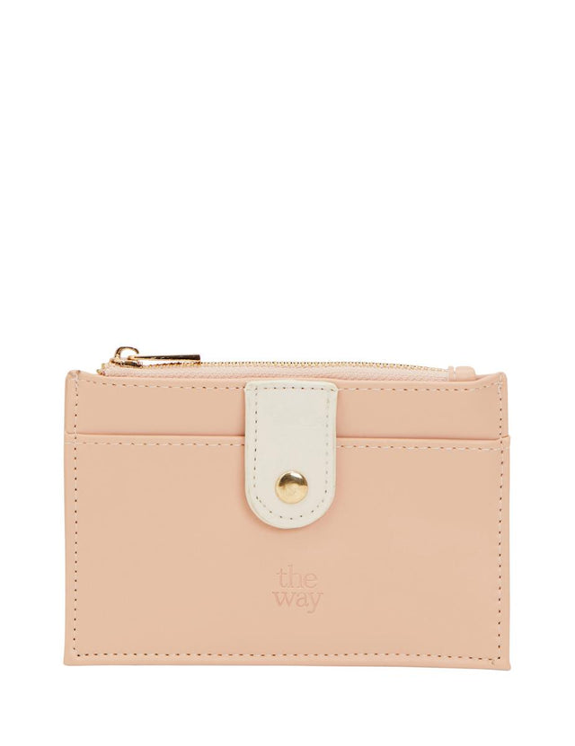 Tilly Zip Card Wallet Pink