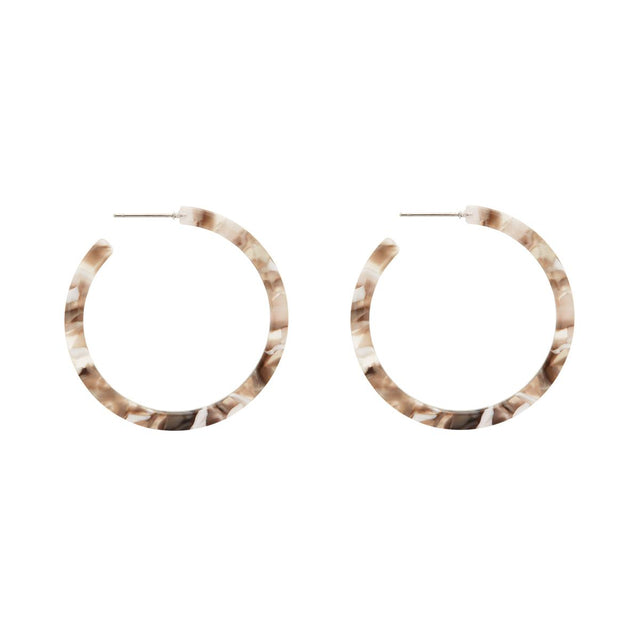 Victoria Marbled Hoop Grey
