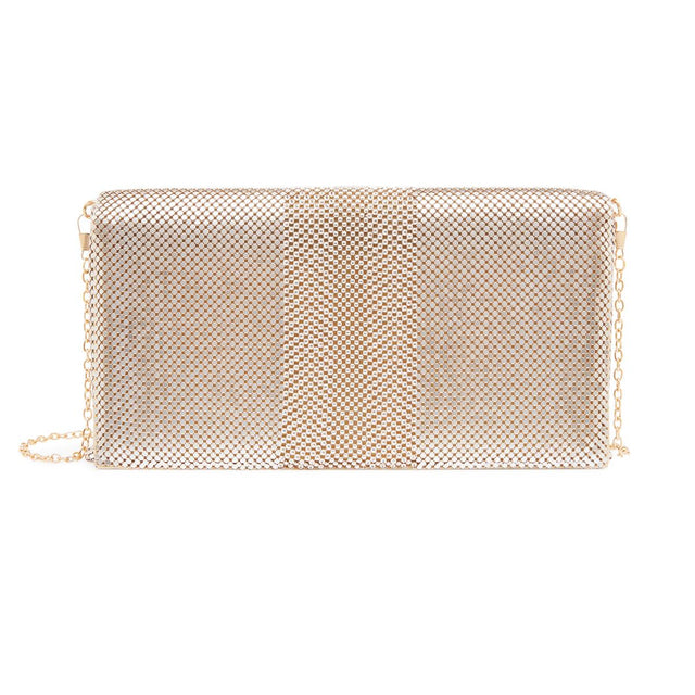 Belinda Mesh Clutch Gold