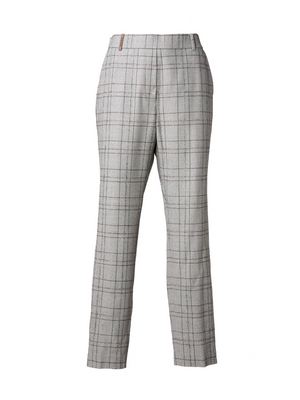 Peserico Checked Pant with Alpaca Lurex Thread