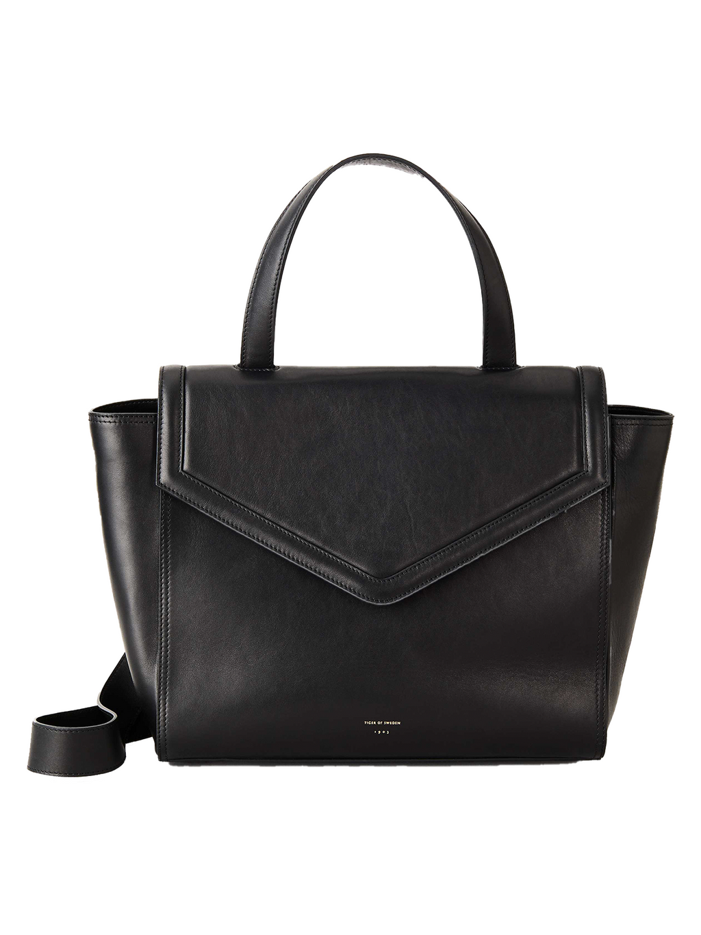 Tiger of Sweden Medium Leather Handbag - Black