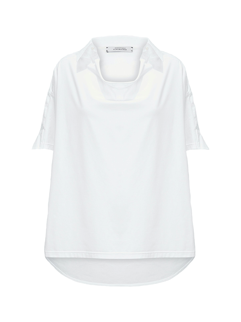 Dorothee Schumacher Cool Contrast Short Sleeved Blouse