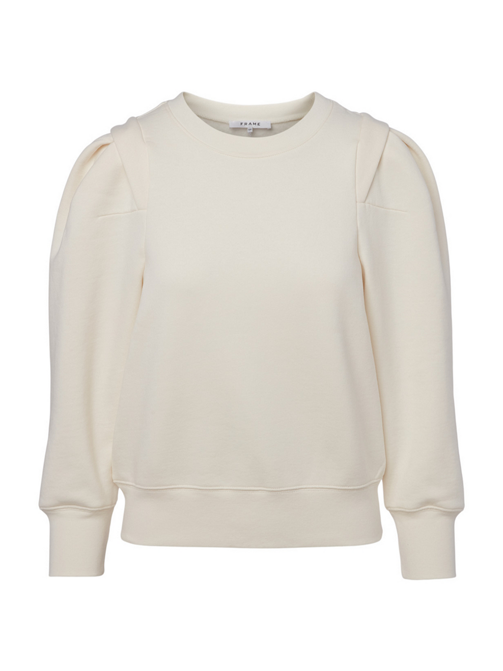 Frame Pleated Panel Sweatshirt