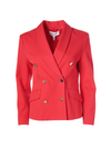 Derek Lam 10 Crosby Myra Double Breasted Cropped Blazer - Cherry Red
