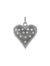Margo Morrison Rohdium Finish Sterling Silver Heart Charm