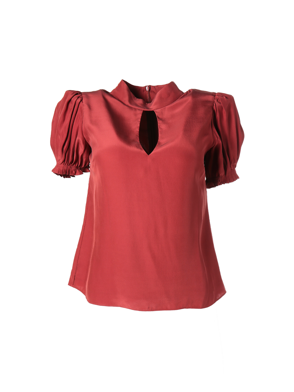Frame Pleated Party Top