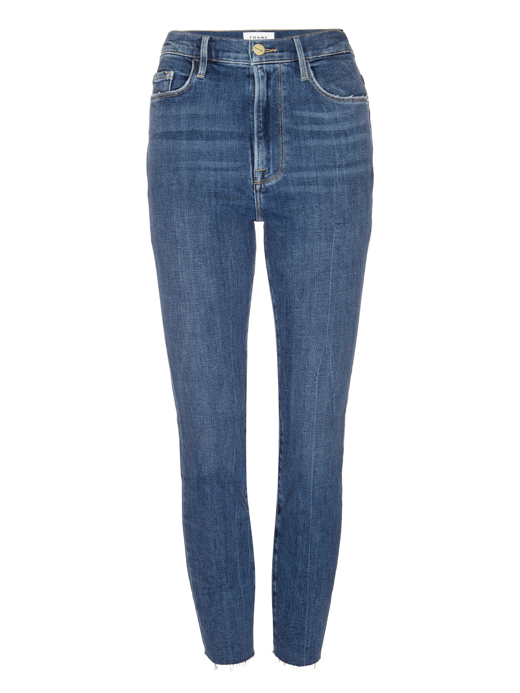 Frame Ali High Rise Cigarette Jeans with Turned Back Hem