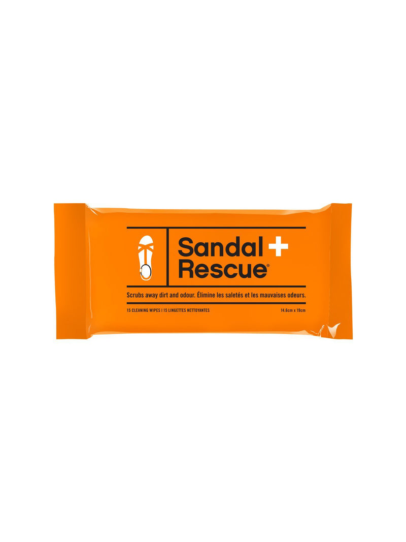 Sandal Rescue All-Natural Sandal Cleaning Wipes - Resealable Pack of 15
