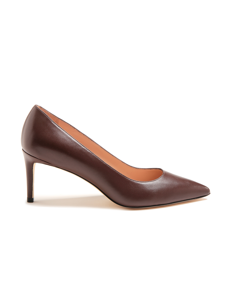 Stuart Weitzman Leigh 70 Dress Pump - Nappa Walnut