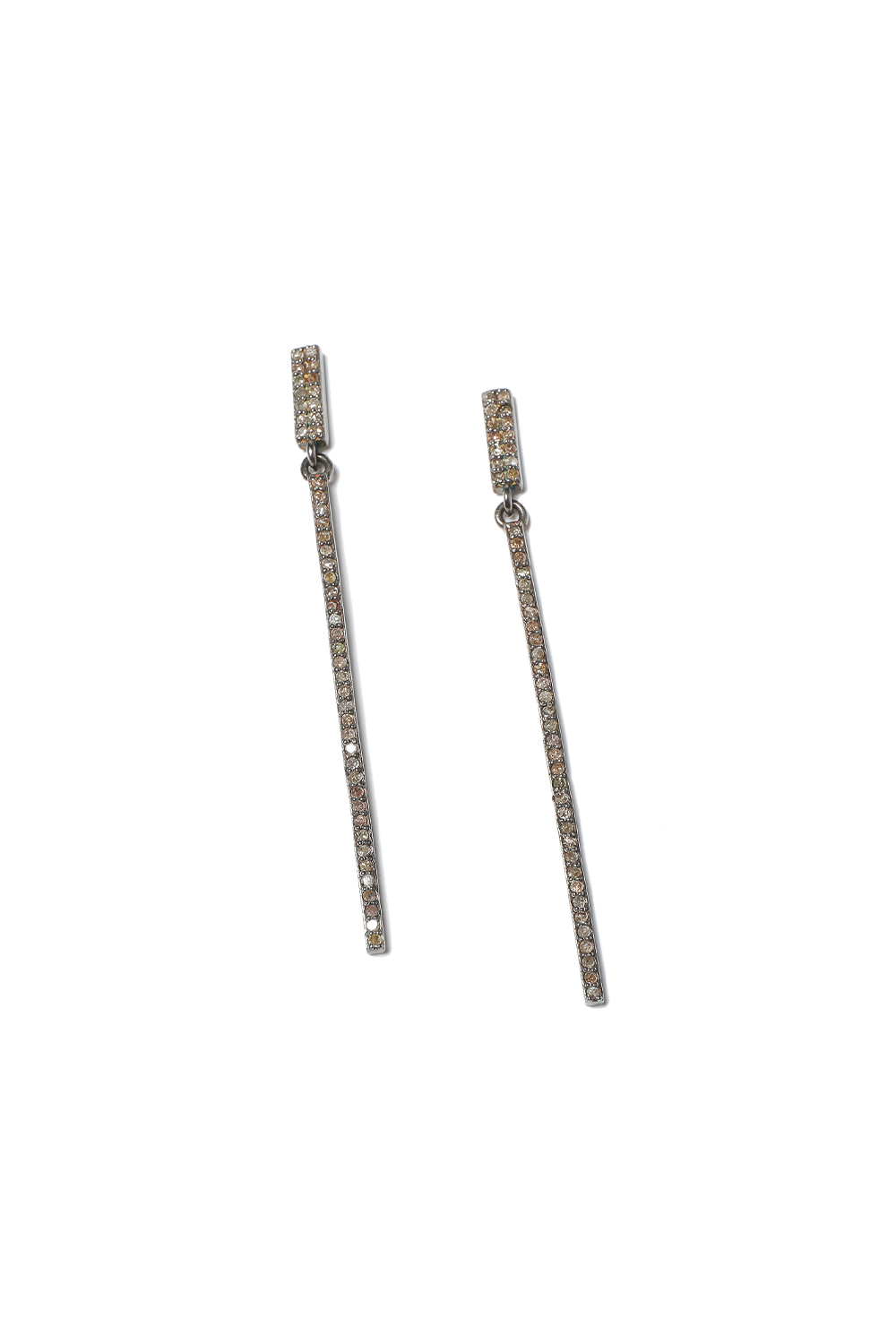 Margo Morrison Diamond Long Line Earrings