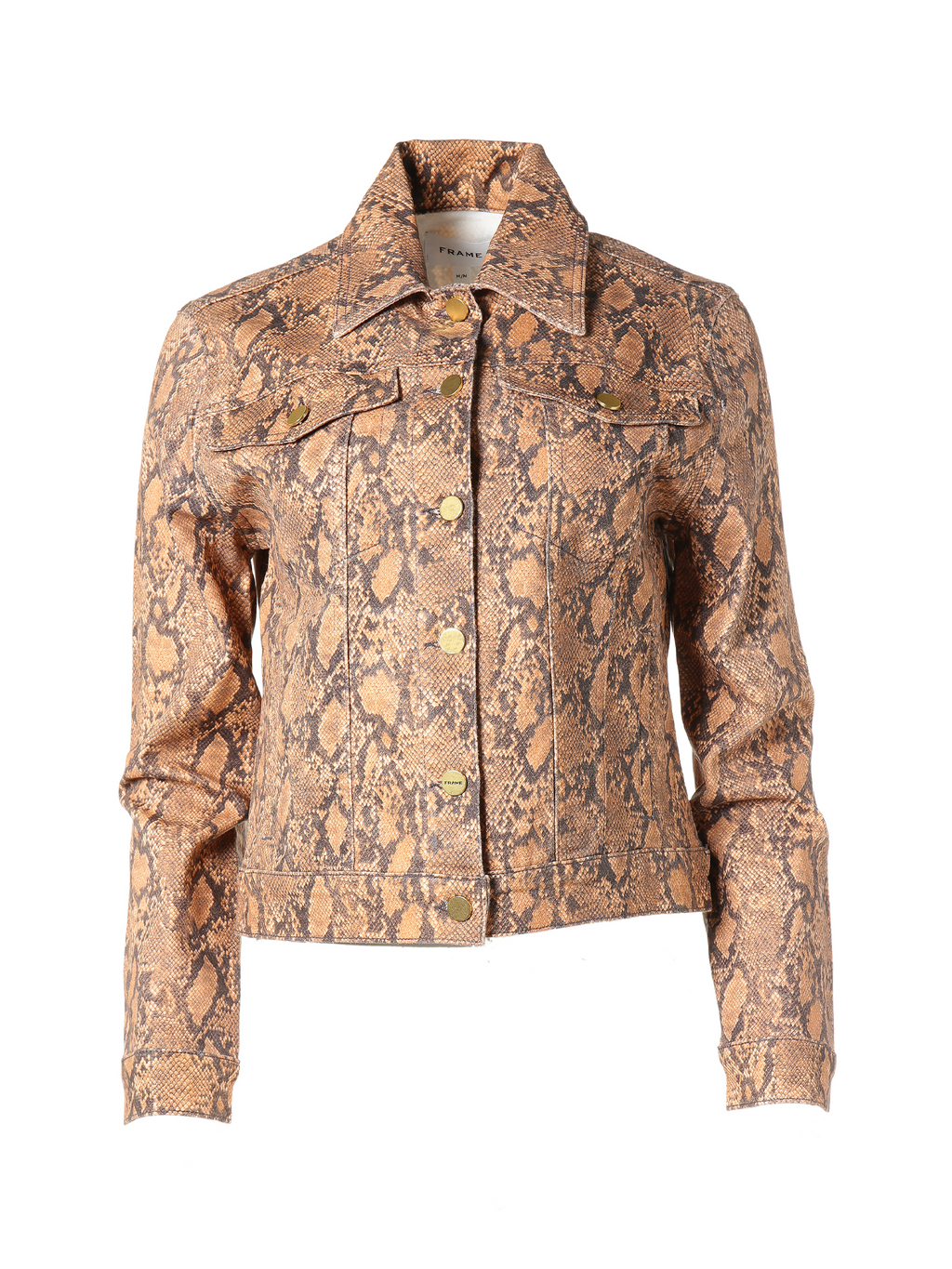 Frame Le Vintage Jacket - Coated Python