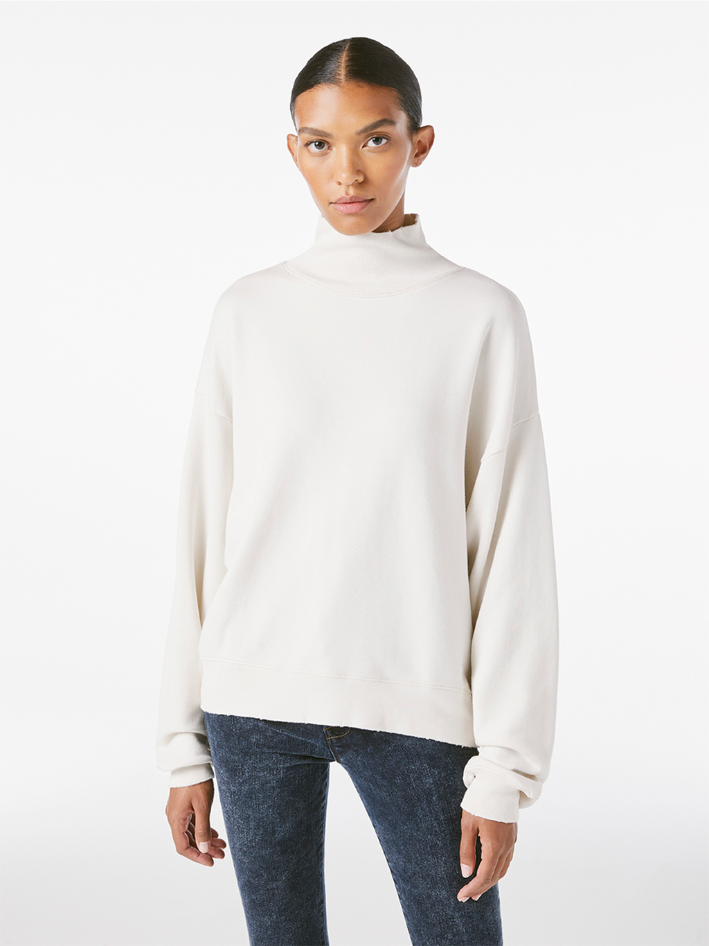 Frame Funnel Neck Sweatshirt