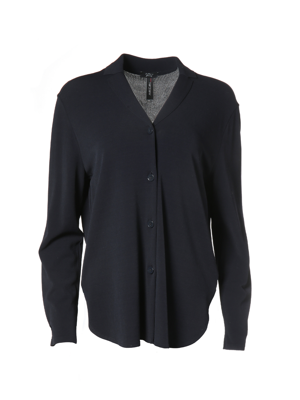Marc Cain Extra Wide Fine Knit Shirt Midnight Blue