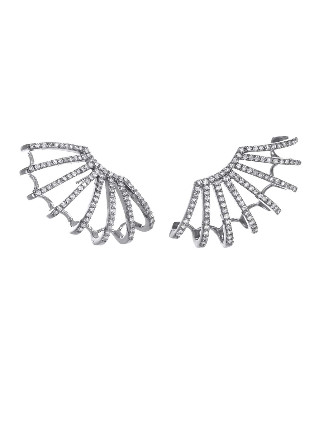 Margo Morrison Cage Diamond Earrings
