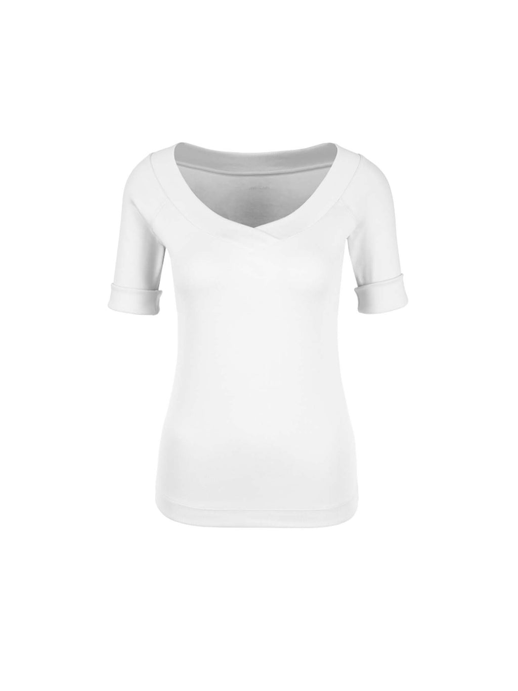 Marc Cain Essential Stretchy Top with V-Neck
