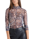 Marc Cain Printed Long Sleeved Top in Mesh