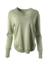 Repeat Pullover V-Neck Sweater with Round Hem
