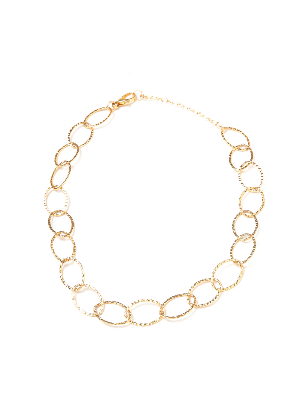 Margo Morrison Gold Open Link Chain Necklace 14k Gold Filled