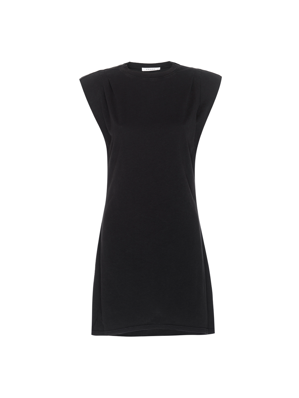 Frame Padded Shoulder Dress - Noir