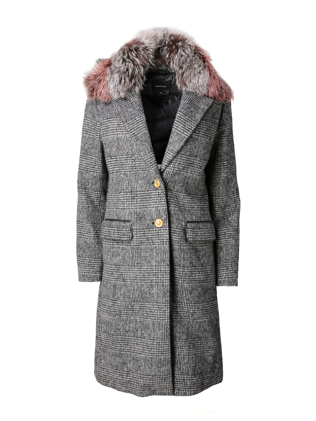 Mackage Henrita Wool Coat With Fur Collar
