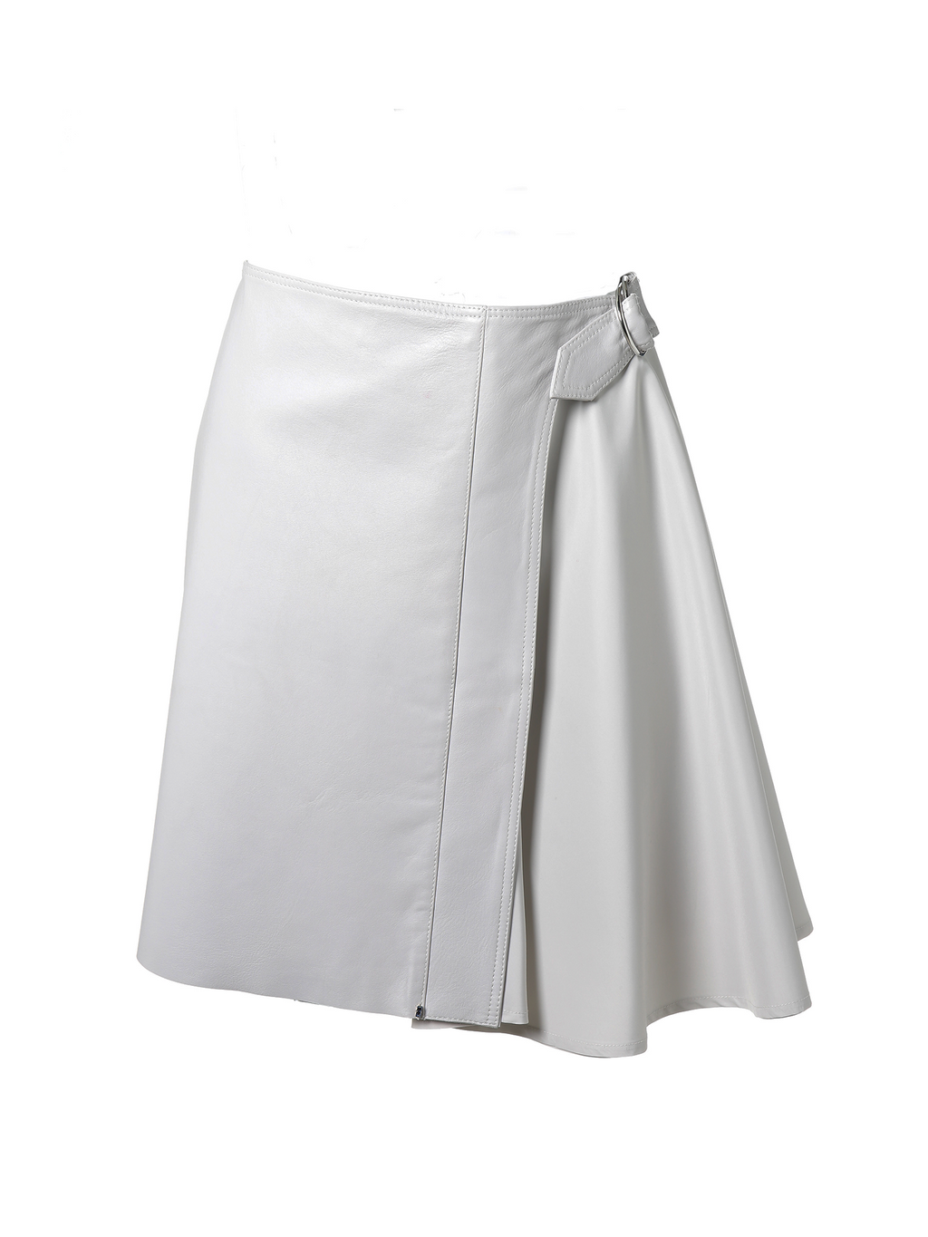 Max Mara Sportmax Tefrite Leather Skirt - Ice
