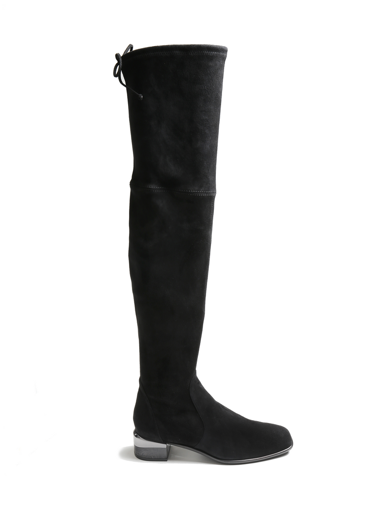 Stuart Weitzman Charloet Suede Tall Overnkee Boot