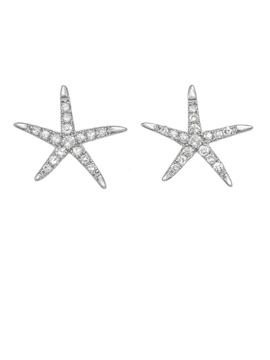 Margo Morrison Diamond Starfish Stud Earrings
