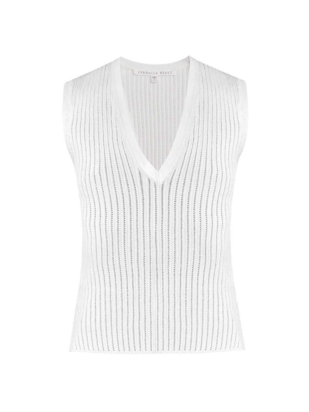 Veronica Beard Sid Sleeveless V-Neck Pullover