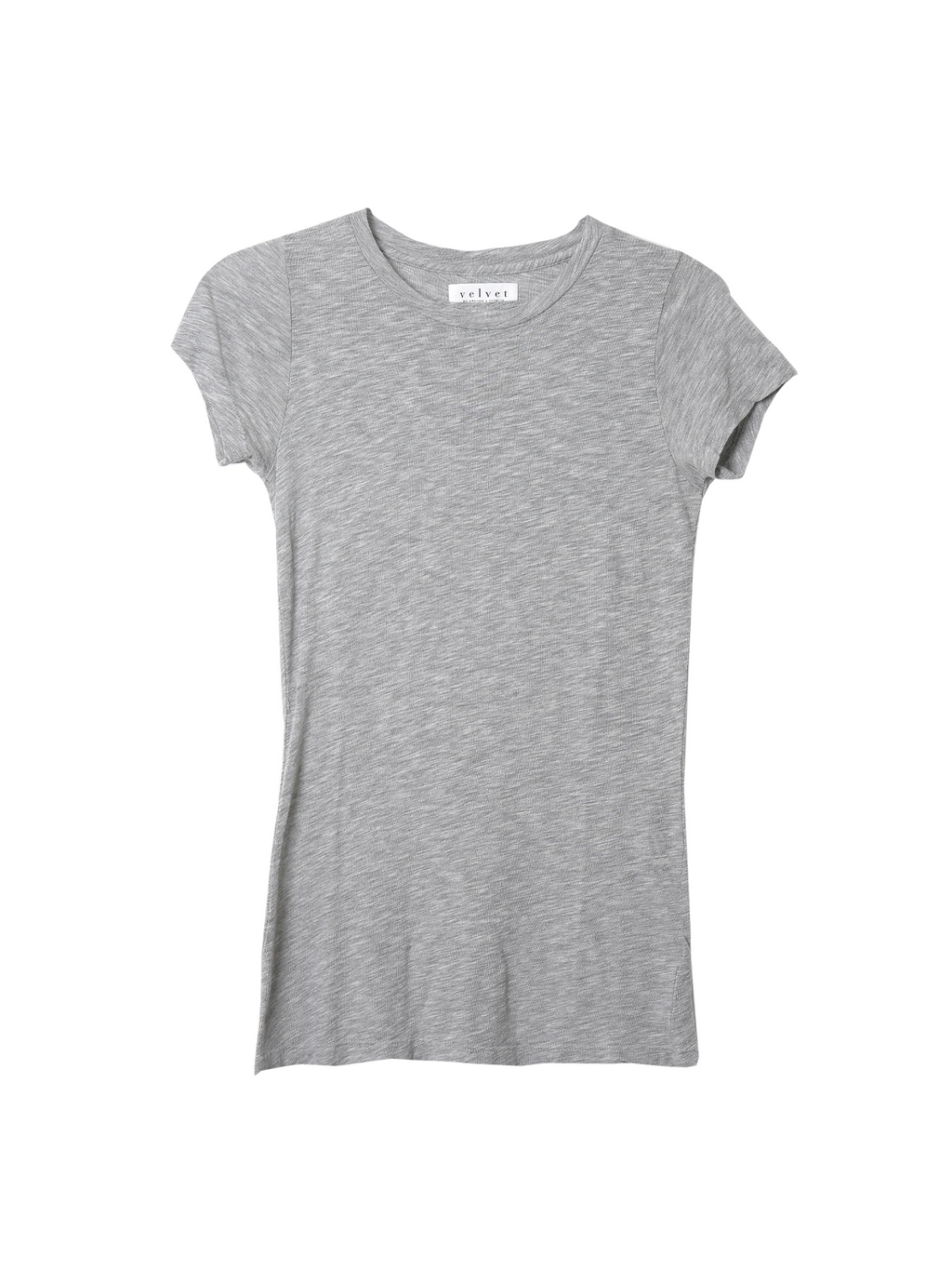 Velvet Jemma Gauzy Whisper Fitted Crew Neck Tee