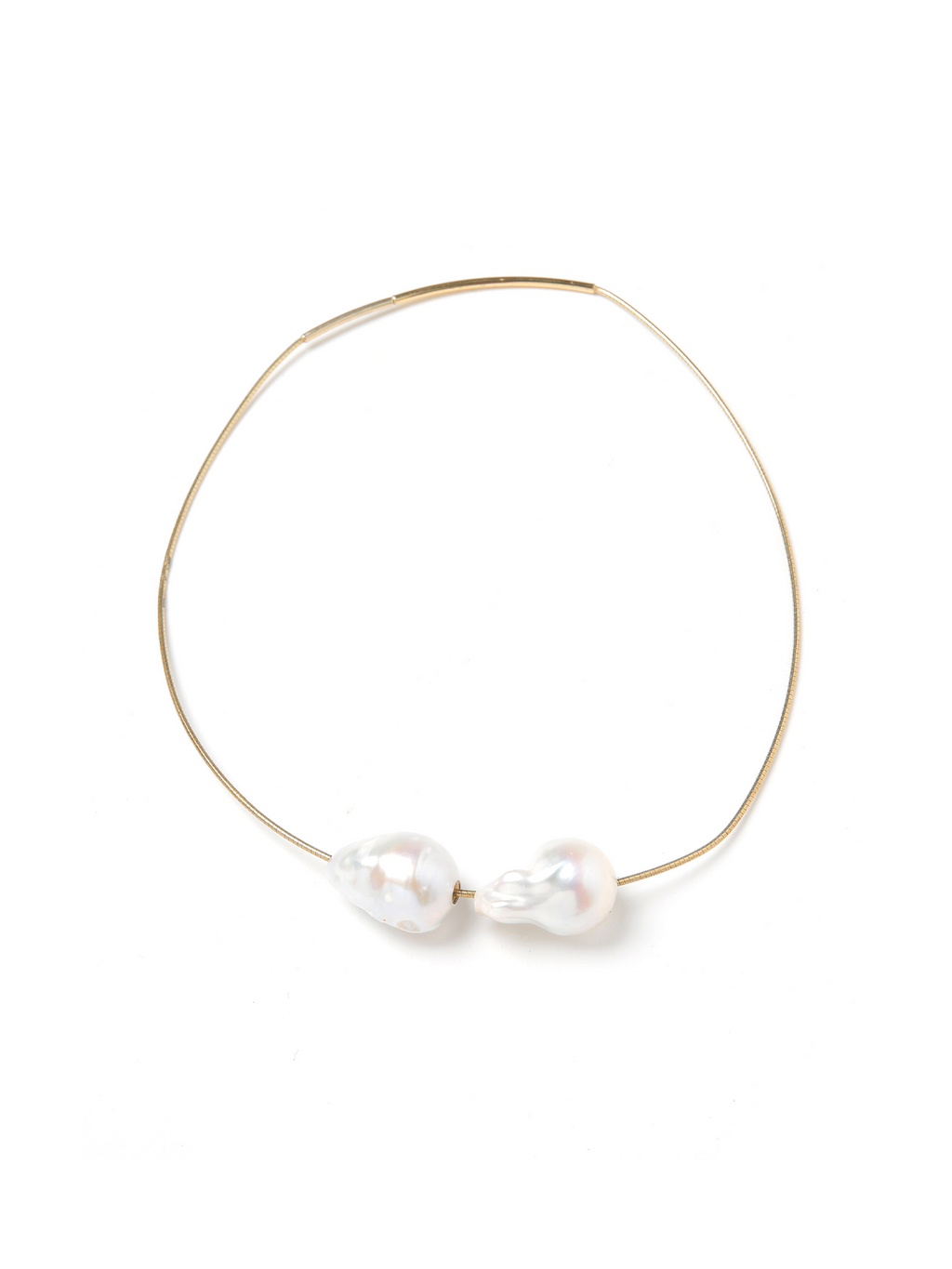 Margo Morrison Double Baroque Pearl Collar Necklace