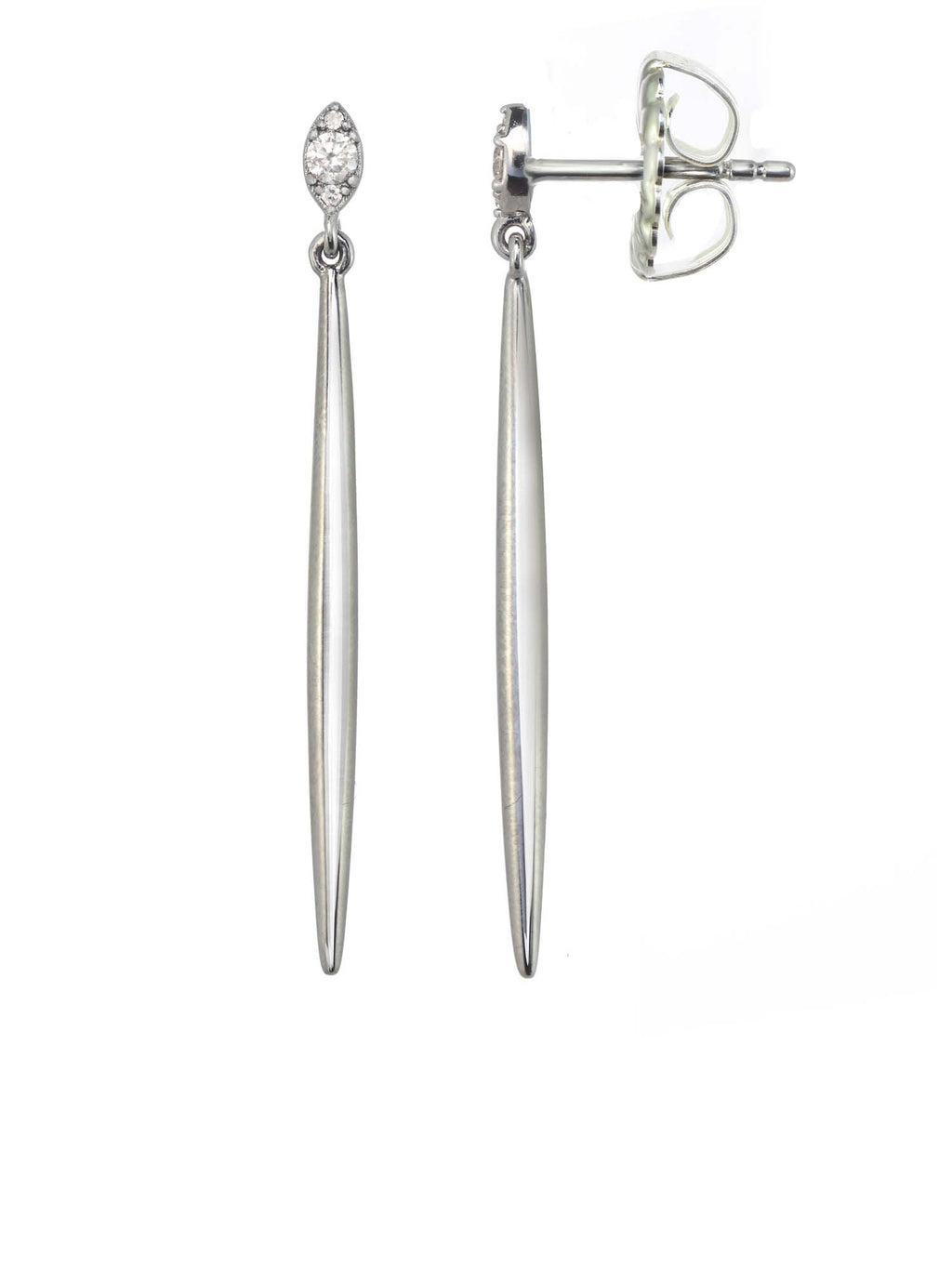 Margo Morrison Silver Spike Earrings