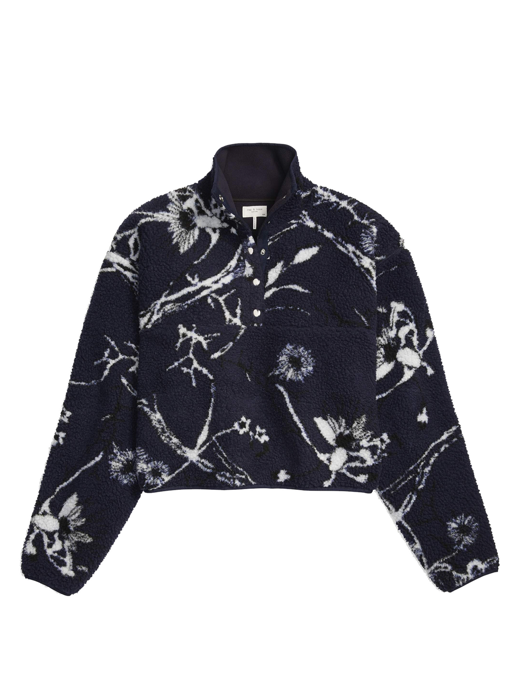 Rag & Bone Floral Sherpa Pullover Sweater