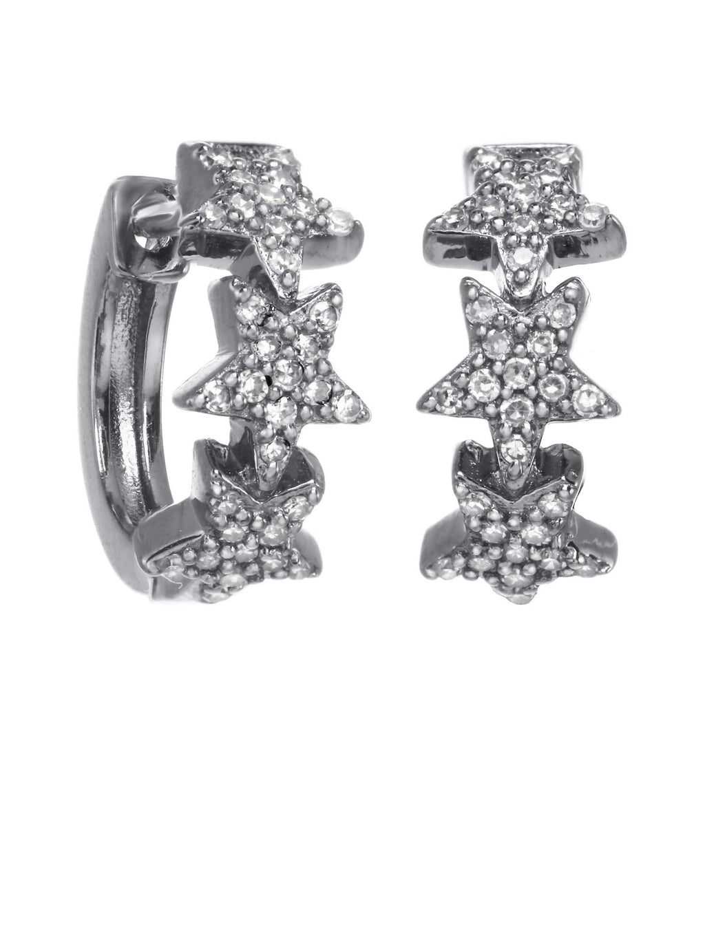 Margo Morrison Diamond Star Hoop Earrings