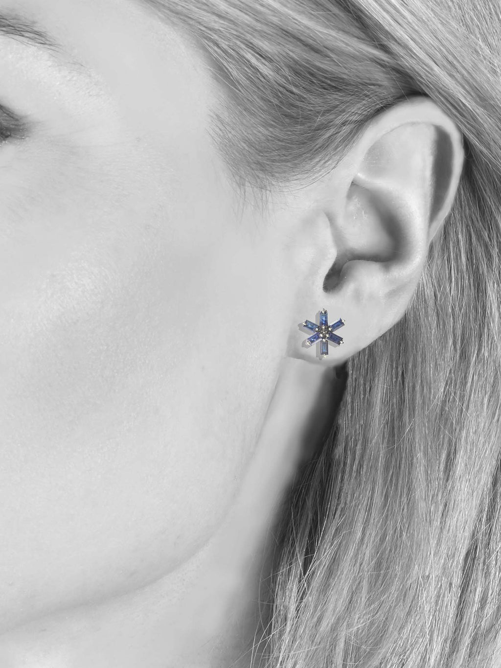 Margo Morrison Faceted Sapphire Flower Earrings