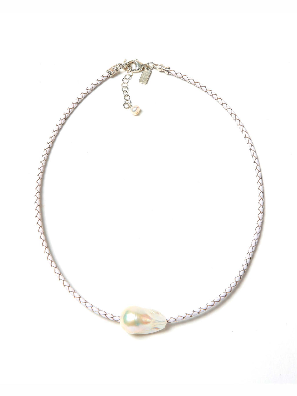 Margo Morrison Leather Baroque Pearl Choker
