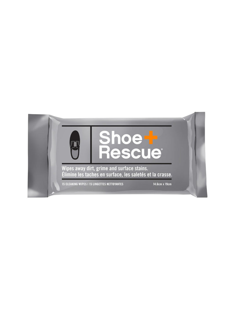 Shoe Rescue All-Natural Shoe Cleaning Wipes - Resealable Pack of 15