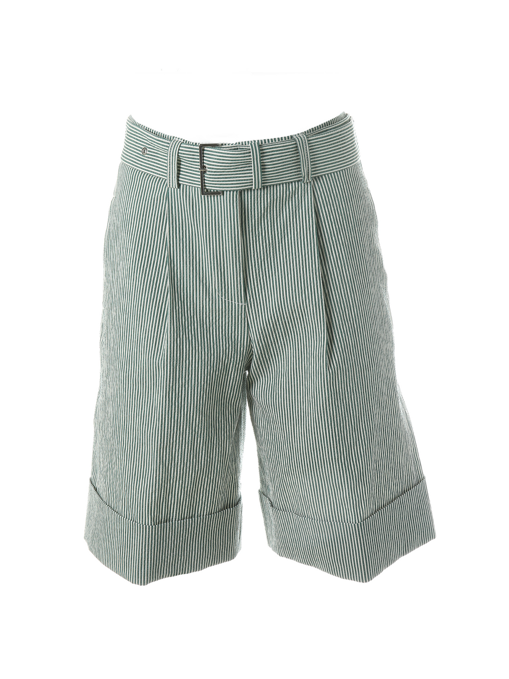 Peserico Pleated Shorts in Cotton Stretch