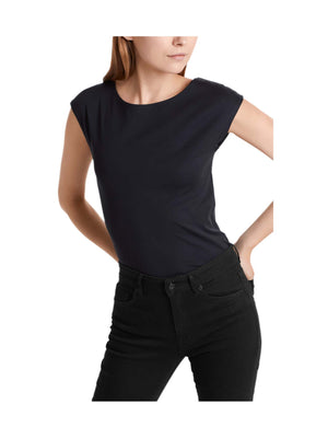 Marc Cain Essential Basic Top with Wide Neckline