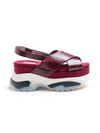 Dorothee Schumacher Urban Coolness Sporty Flatform Rosewood Red