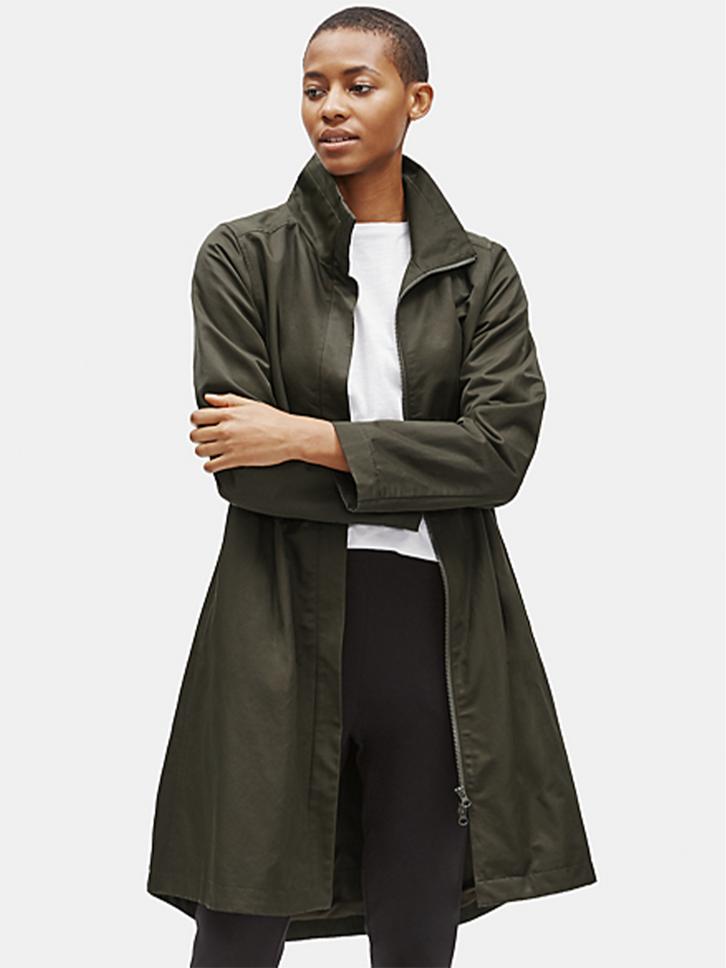 Eileen Fisher Stand Collar Coat