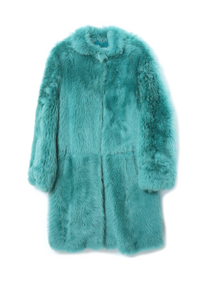 DESA Toscana Suede Perforated Fur Coat