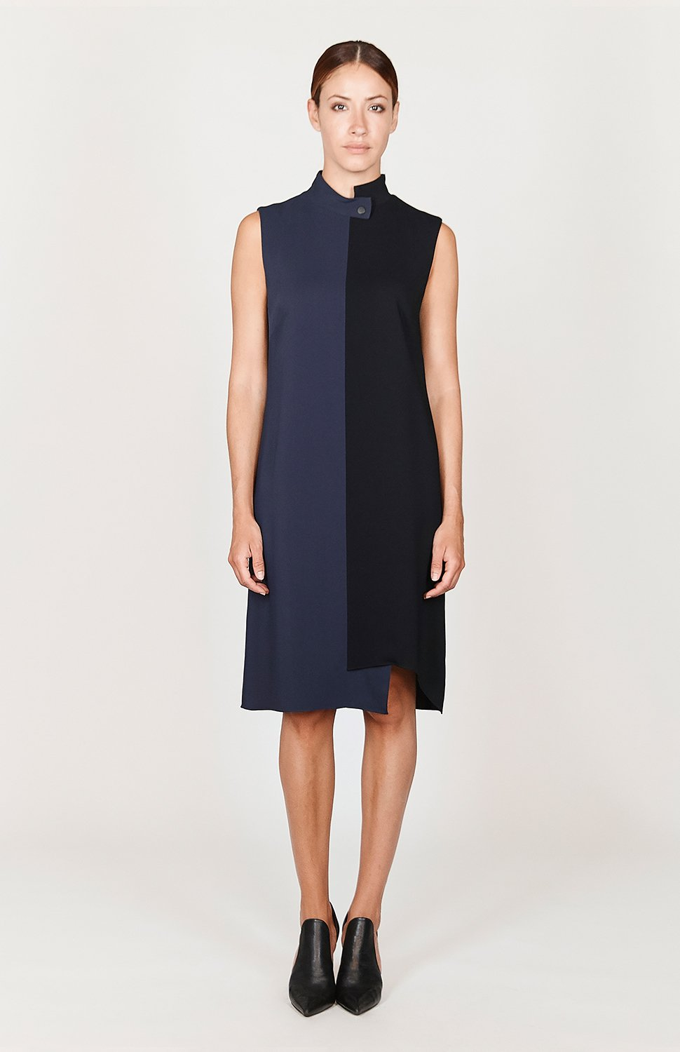 Mi Jong Lee Stretch Base Asymmetric Shift Dress - Basics