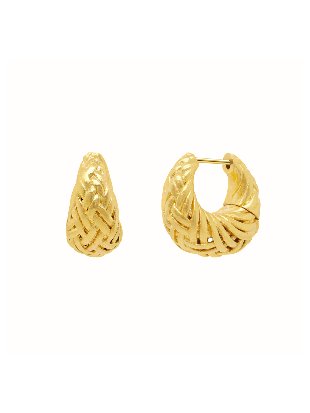 Dean Davidson Bali Weave Huggie Earrings- Gold